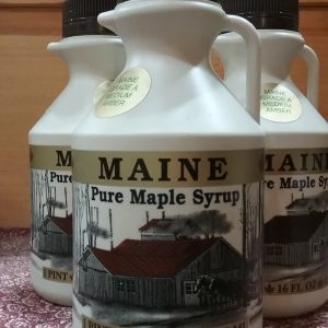 Plastic Pint of Maine Maple Syrup